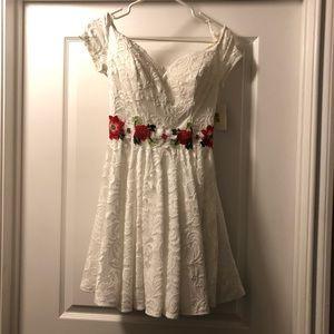 B. Darlin white lace dress (9/10)